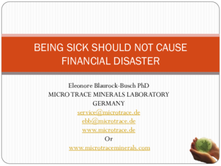 BEING SICK SHOULD NOT CAUSE FINANCIAL DISASTER